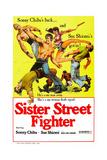 Sister Street Fighter|Onna hissatsu ken Giclée-Druck