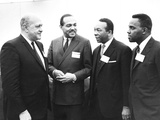 Three African-American Mayors with Housing and Urban to Development Secretary, Robert Weaver Photo