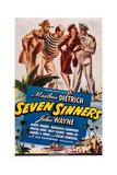 Seven Sinners Giclee Print