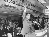 Vice President Richard Nixon at the Presidential Campaign Kick-Off at Baltimore Airport Photo