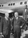 President Eisenhower Was Met by Sec. of State John Foster Dulles at Washington National Airport Photo