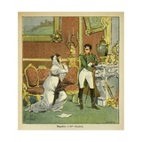 Emperor Napoleon for the Princess of Hatzfeld, Grants Clemency to Her Husband Giclee Print by Louis Bombled