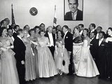 President Dwight and First Lady Mamie Eisenhower with Guests Attending the Inaugural Ball Photo