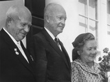 Premier Nikita Khrushchev and His Wife Nina, Welcomed by President Eisenhower at the White House Photo