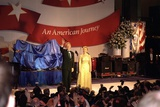 First Lady Hillary Clinton Wearing an Oscar De La Renta Evening Gown at a 1997 Inaugural Ball Photo