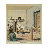 General Pichegru's Death in His Prison, in 1804 Giclee Print by Louis Bombled