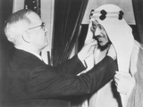 President Harry Truman Presents the Legion of Merit to Crown Prince Amir Saud of Saudi Arabia Photo