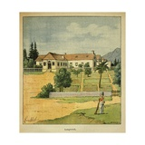 View of Longwood, Exiled Emperor Napoleon's House on Saint Helena Giclee Print by Louis Bombled
