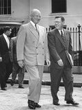 President Eisenhower and White House Press Secretary James Hagerty, on Way to a Press Conference Photo