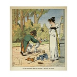 Emperor Napoleon Playing with His Son before Empress Marie-Louise Giclee Print by Louis Bombled