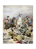 Battle of Malplaquet, Last Charge of the French Cavalry Giclee Print by Maurice Leloir