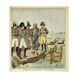 English Sailor Trying to Escape from the Camp of Boulogne During Napoleonic Wars Giclee Print by Louis Bombled