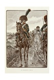 French Horse Chasseurs of the Imperial Guard Reproduction procédé giclée par Jacques de Breville