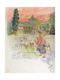 Marie-Antoinette in Her Hamlet at Versailles Giclee Print by Jacques de Breville