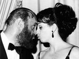 Tony Award Winners Zero Mostel and Liza Minnelli Congratulate Each Other at Tony Awards Photo