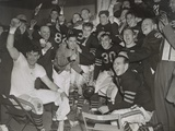 Chicago Bears Cheering after Beating the Green Bay Packers in the Western Division Playoffs Photo