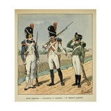 Napoleon's Imperial Guard: 1st Regiment Grenadier and Pupils of the 2nd Regiment Giclee Print by Louis Bombled