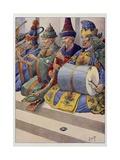 Gulliver's Travels, Brobdingnagian Musicians Giclee Print by Jacques de Breville