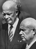President Eisenhower and Soviet Premier Nikita Khrushchev after Russian Leader Arrived in the U.S. Photo