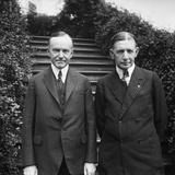 Calvin Coolidge with Charles Dawes, the Republican Vice Presidential Nominee at the White House Photo