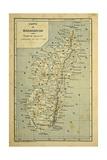 Madagascar War 1885-95, Map of Madagascar Lámina giclée por Louis Bombled
