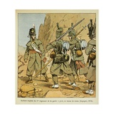 British Soldiers of the 1st Regiment of Foot Guards in Campaign Dress,Spain 1814 Giclee Print by Louis Bombled