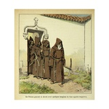 Napoleonic Wars, Trappist Monks Giclee Print by Louis Bombled