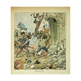 Napoleonic Wars, Sack of Rome Giclee Print by Louis Bombled