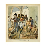 Napoleonic Wars, Bonaparte Visiting the Plague Victims of Jaffa Giclee Print by Louis Bombled
