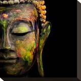 Colorful Buddha Stretched Canvas Print