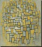 Composition in Brown Impressão em tela esticada por Piet Mondrian