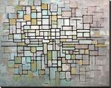 Composition No. II Impressão em tela esticada por Piet Mondrian