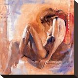 Claire in the Bath Lærredstryk på blindramme af Talantbek Chekirov