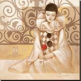 Harlekin Rose Stretched Canvas Print by  Joadoor