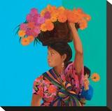 Renate Holzner - Guatemala - Şasili Gerilmiş Tuvale Reprodüksiyon