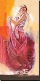 Flamenco Dance Stretched Canvas Print by Talantbek Chekirov