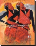 Massai Twins Stretched Canvas Print by  Joadoor