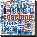 Motivating Coaching Collage Stretched Canvas Print