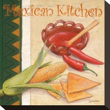 Mexican Kitchen Stretched Canvas Print by Bjoern Baar