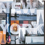 New York Stretched Canvas Print by Renate Holzner