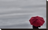 Schwartz - Little Red Umbrella Impressão em tela esticada por Don Schwartz