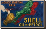 Shell Oil and Petrol Stretched Canvas Print