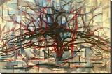 the Gray Tree 1912 Impressão em tela esticada por Piet Mondrian