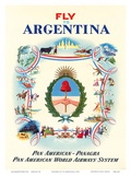 Fly to Argentina - Pan American-Panagra - Pan American World Airways System Prints by Constantin Alajalov