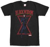 Black Widow- Hourglass View T-shirts