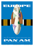 Europe - Only 7 Jet Magic Hours from New York - Pan American World Airways Prints by  Bobri