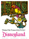 Disneyland - Walt Disney's Enchanted Tiki Room - United Air Lines Art by  Jabavy