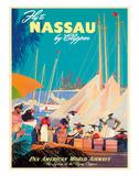 Fly to Nassau by Clipper - New Providence Island, The Bahamas - Pan American World Airways (PAA) Giclée-Druck von M. Von Arenburg