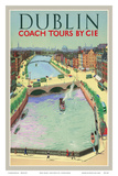 Pacifica Island Art - Dublin, Ireland - Coach Tours by CIÉ - O'Connell Bridge over the River Liffey - Sanat