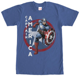 Captain America- Charge To Action T-Shirt
